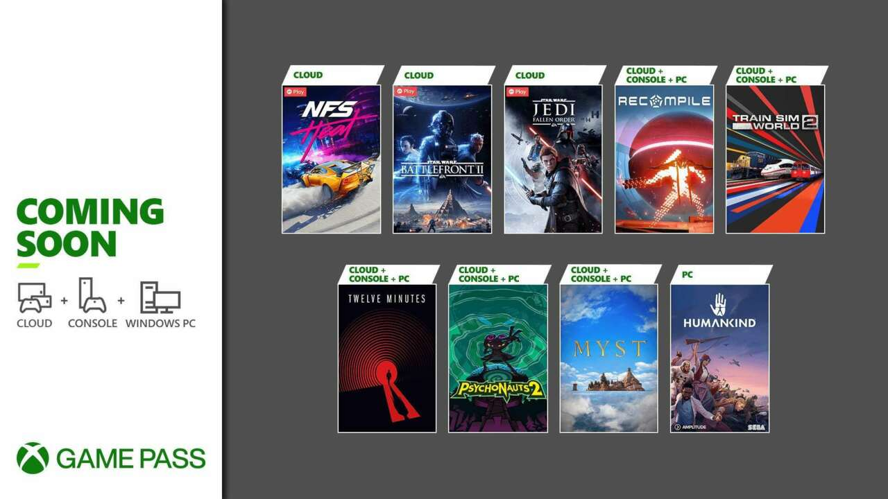 Xbox Game Pass all the Games Coming